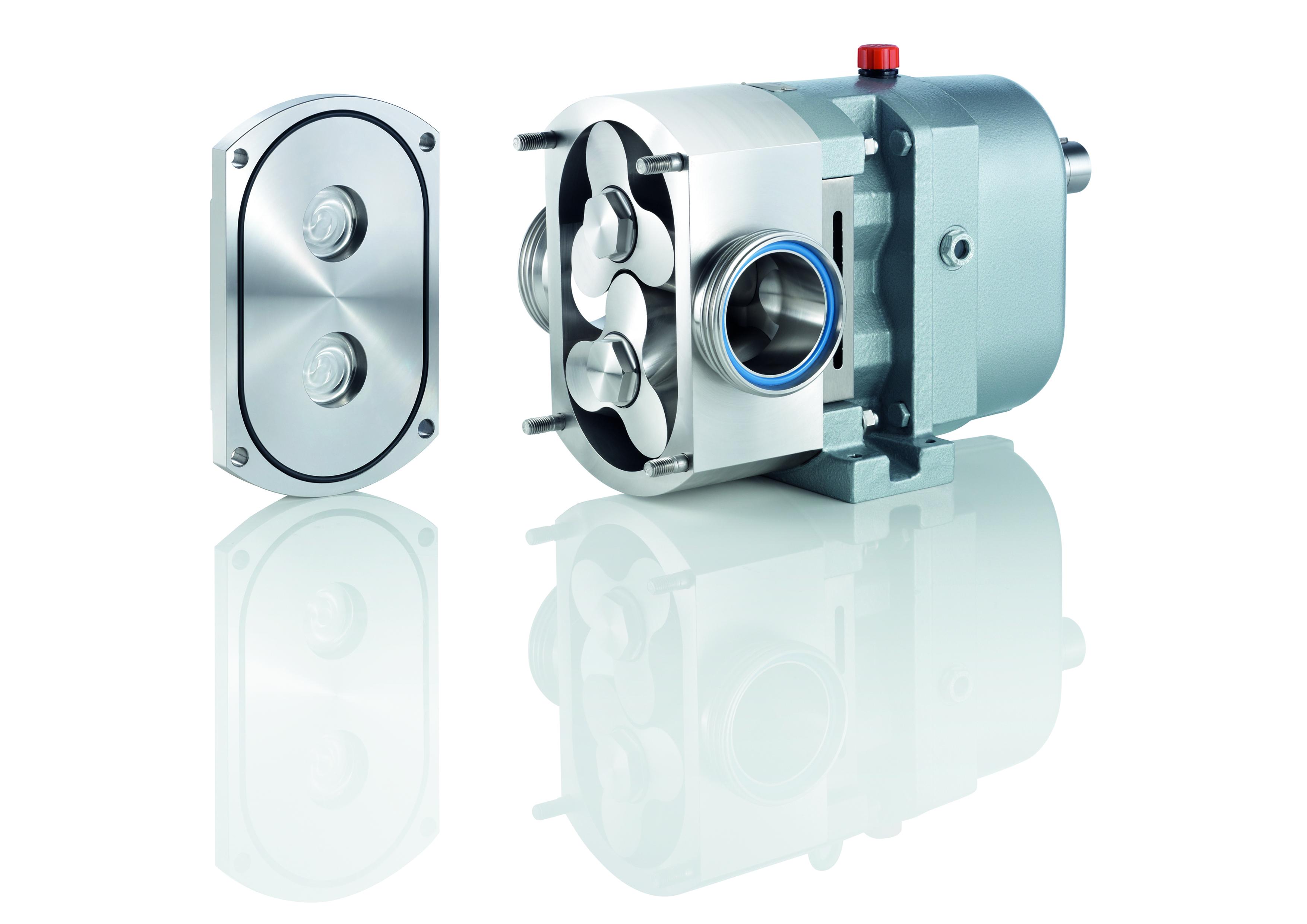 La pompa FL3 è proposta da Fristam in versione trilobo elicoidale, con pulsazioni virtualmente annullate