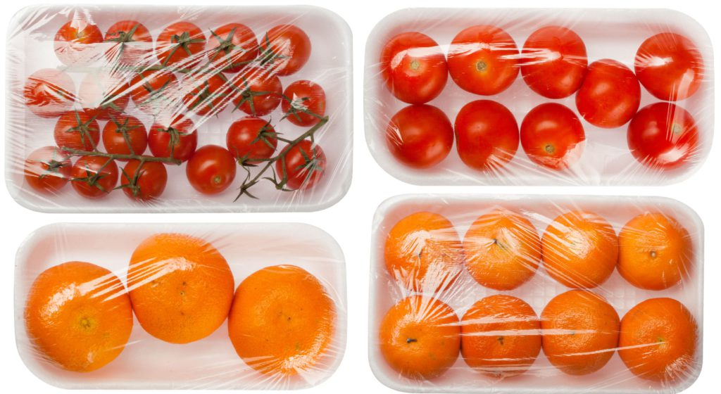 fruits and vegetables in vacuum packing