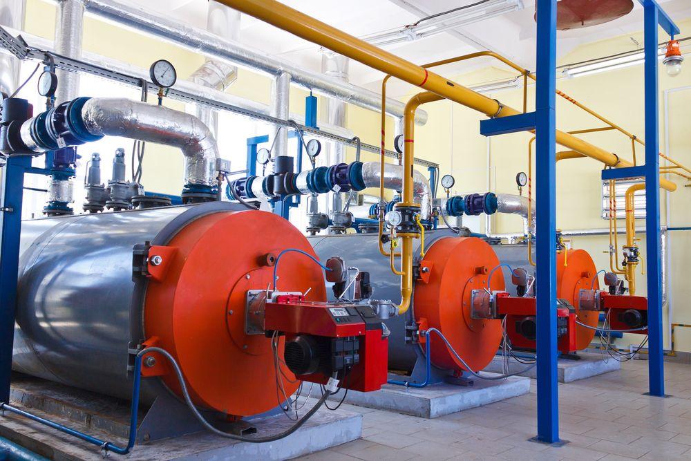 Industrial boiler equipment gas burn